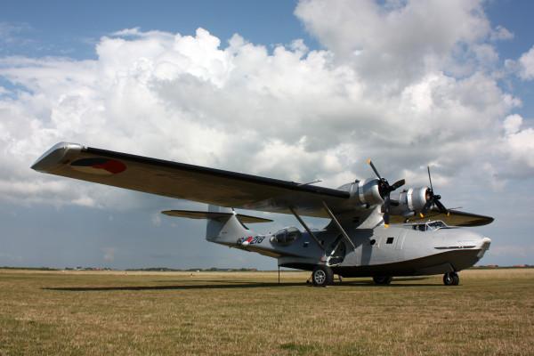 De PH-PBY op Texel in augustus 2014.