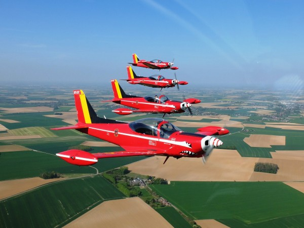 Red Devils van de Belgian Air Force.