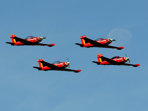 Red Devils van de Belgian Air Force (Foto Peter Steenhouwer).